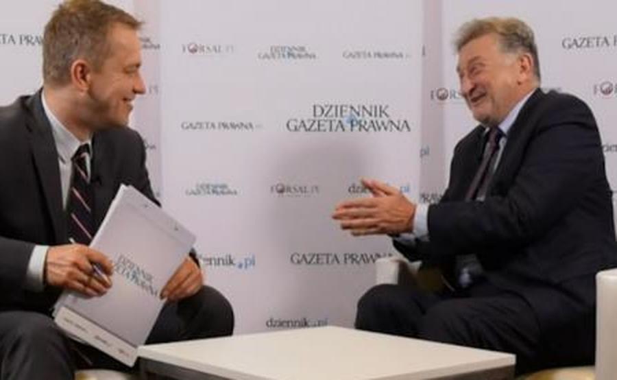 Ryszard Pieńkowski, prezes Infor.PL i Marek Tejchman, z-ca red.nacz DGP na Perłach Samorządu 2019