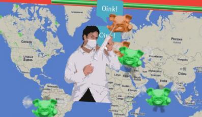 Wirtualna walka ze świńską grypą