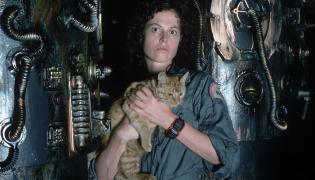 "Sigourney Weaver na planie ""Obcego"""