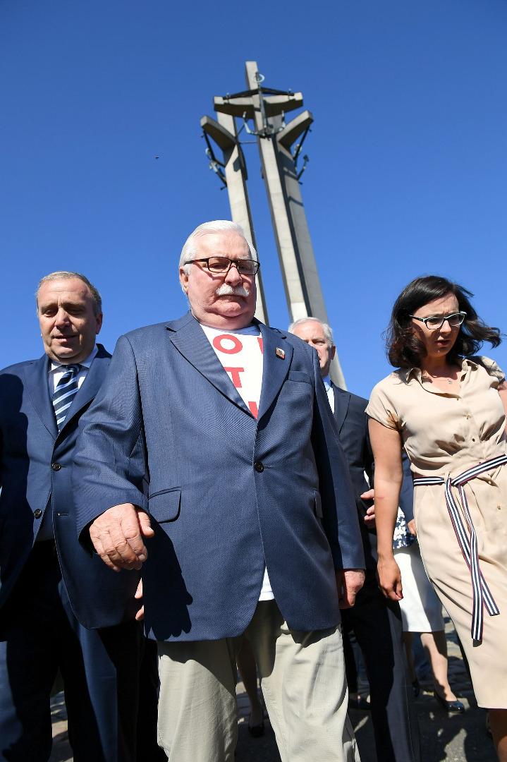 Lech Wałęsa, Grzegorz Schetyna i Kamila Gasiuk-Pihowicz