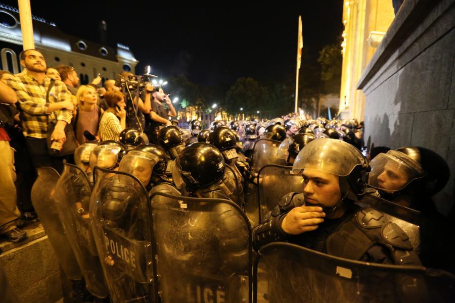 Protesty w Gruzji