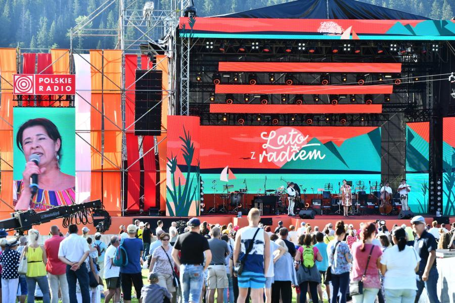 Hanka Rybka z zespołem Scena Główna (Dolna Rówień Krupowa) Lato z Radiem Festiwal 2019 Zakopane 2