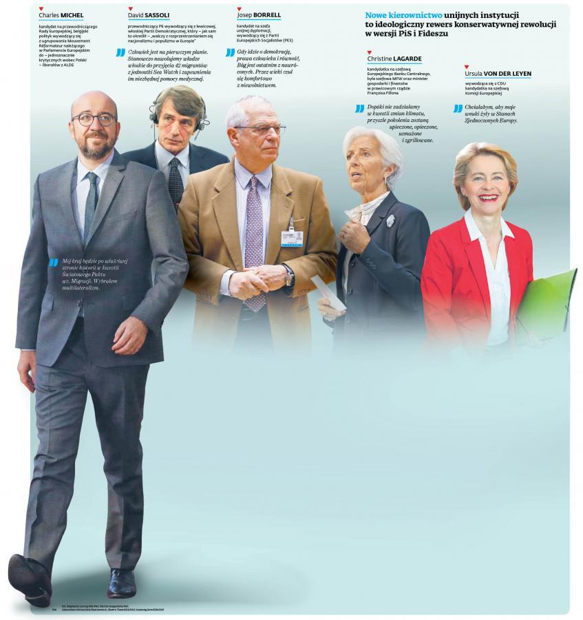 Nowe kierownictwo instytucji UE