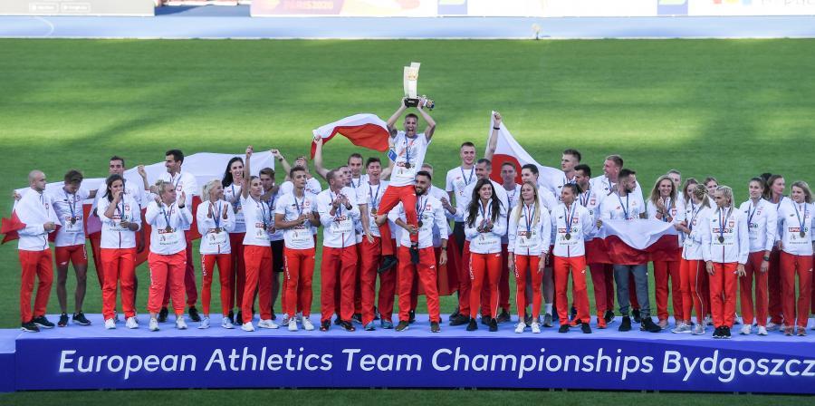 Polacy na podium. Polscy lekkoatleci zwyciężyli w drużynowych mistrzostwach Europy