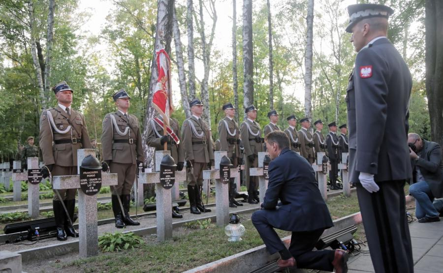 Apel Pamięci przy Pomniku Poległych w 1920 r. na warszawskich Powązkach