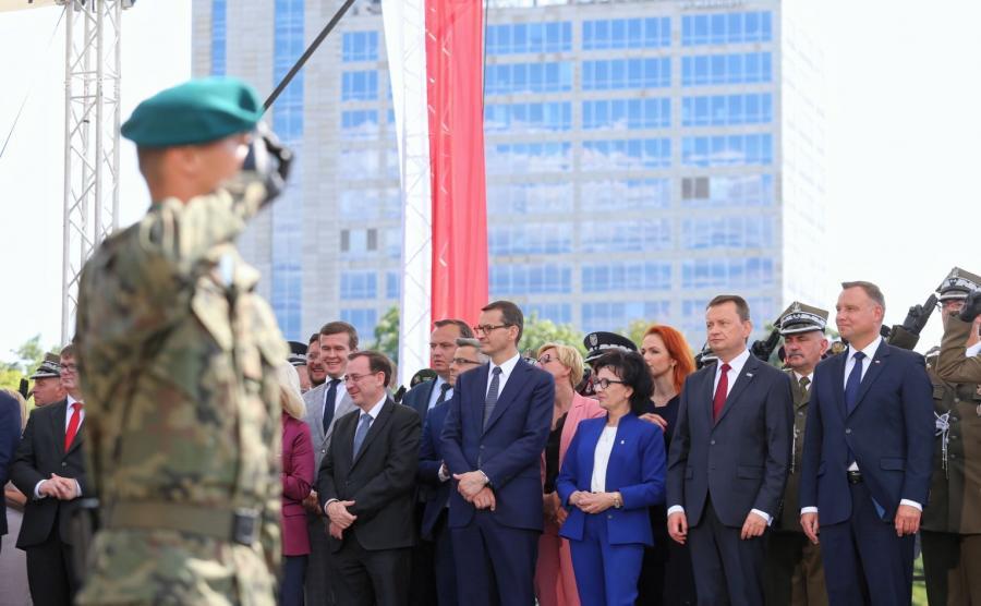 Do Katowic przybyli m.in. prezydent, premier i szef MON