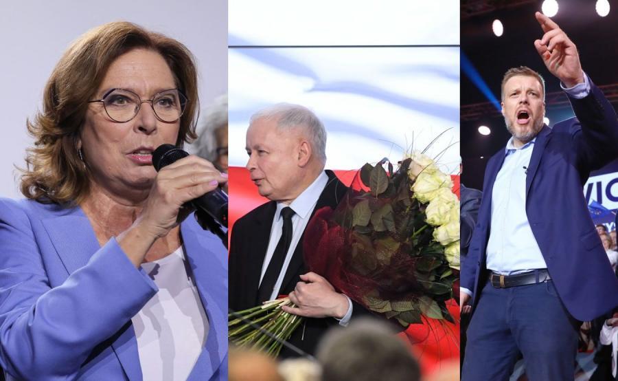 Małgorzata Kidawa-Błońska, Jarosław Kaczyński i Adrian Zandberg