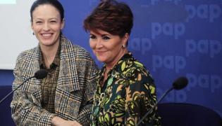 Magdalena Różczka i Jolanta Kwaśniewska