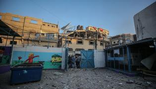 Zniszczony dom przywócy Islamskiego Dżihadu