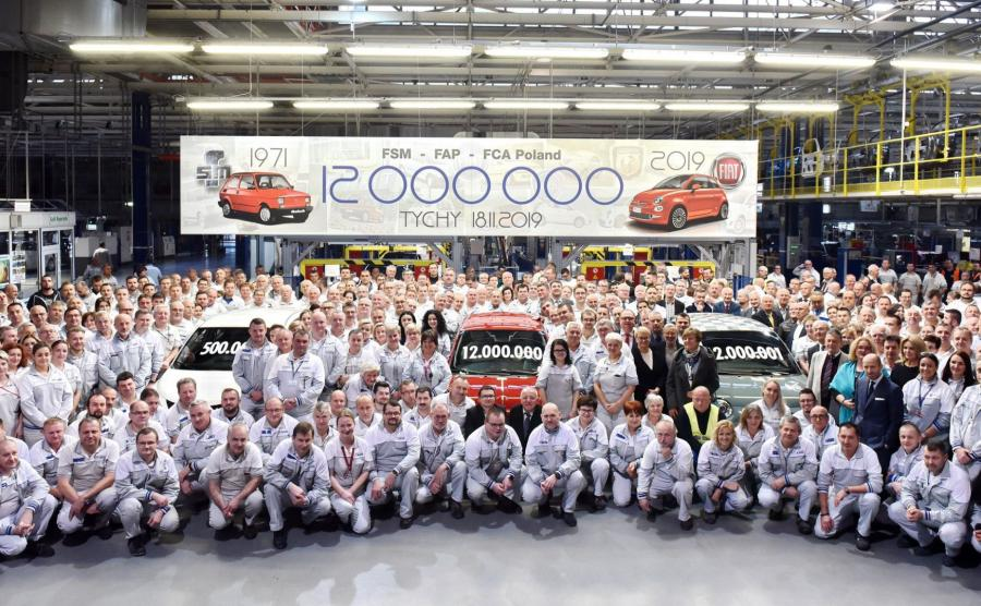 Wyprodukowano 12-milionowy samochód w fabryce Fiat Chrysler Automobiles w Tychach