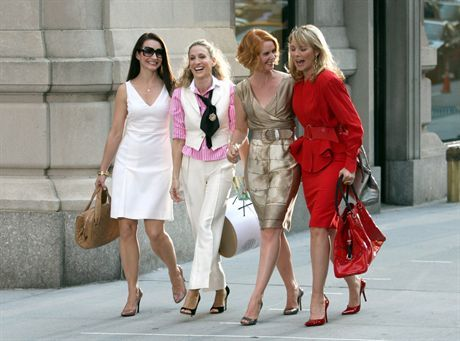September 21, 2007: Kristin Davis, Sarah Jessica Parker, Cynthia Nixon and Kim Cattrall on the set of \