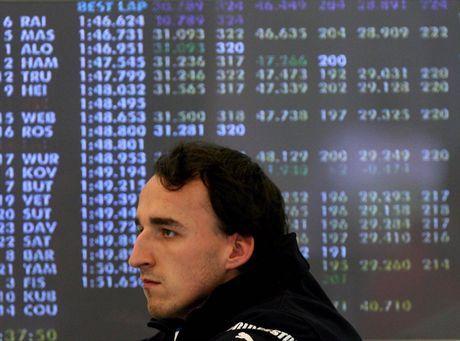 Spa-Francorchamps , Belgia, 15.09.2007.  Kierowca  zespołu  BMW Sauber , Robert Kubica czeka na rozpoczęcie   treningu  na torze Spa-Francorchamps, na kórym 16 bm. odbędzie się wyścig F-1 o Grand Prix Belgii, 15 bm. (jkm)PAP/ EPA/Oliver Weiken