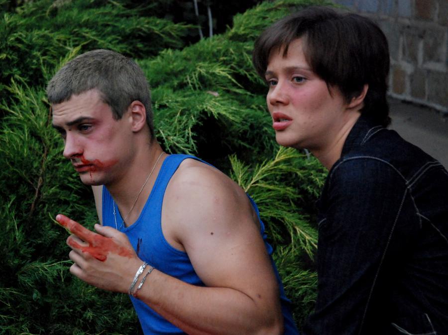 Mateusz Damięcki i Hanna Konarowska w \