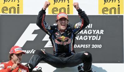 Australijczyk Mark Webber triumfuje w wyścigu Formuły 1 na węgierskim Hungaroringu