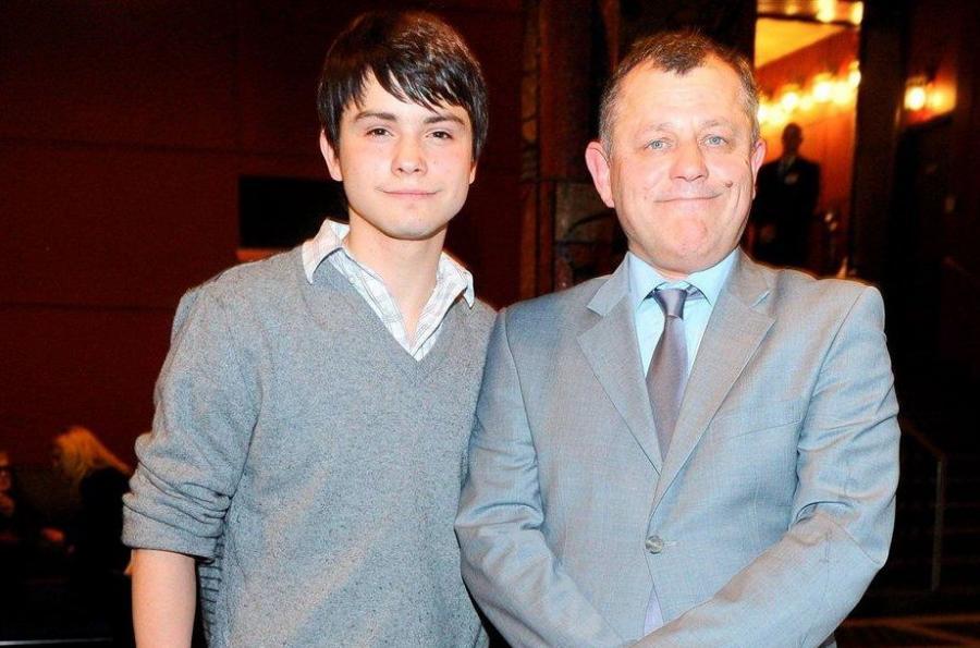 Tadeusz Chudecki z synem