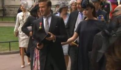 David i Victoria Beckham przybyli na ślub Williama i Kate