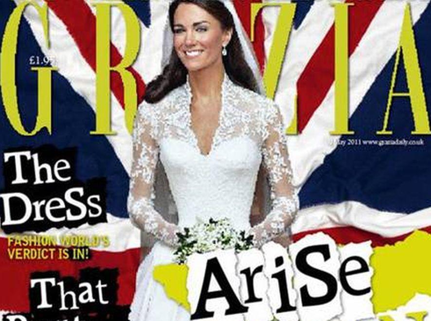 """Kate Middleton padła ofiarą grafików. Źródło: """"Grazia"""""""