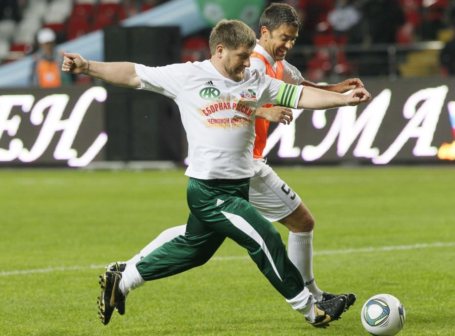 Czeczeński prezydent Ramzan Kadyrow i Alessandro Costacurta