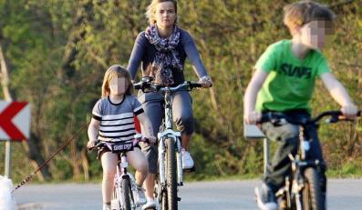 Monika z rodziną na wyprawie rowerowej