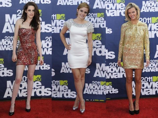 Gwiazdy błyszczą w mini: kreacje na MTV Movie Awards 2011