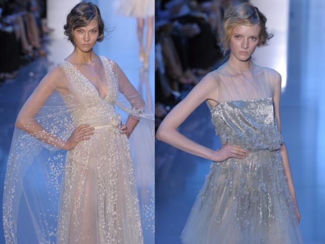 Paris Fashion Week - suknie Ellie Saaba z kolekcji Haute couture.