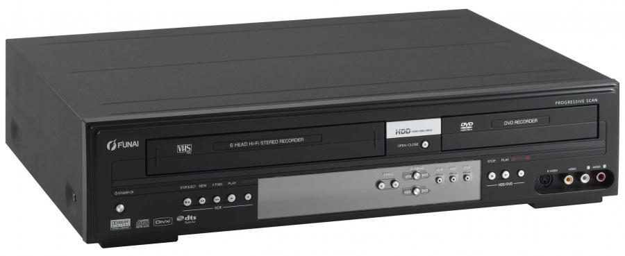 Wideo kombajn do zgrywa VHS na płyty na twardy dysk i dvd