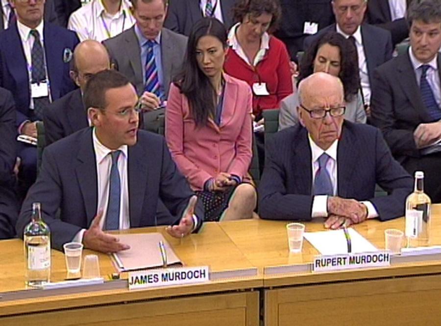 Przesłuchanie Ruperta i Jamesa Murdochów