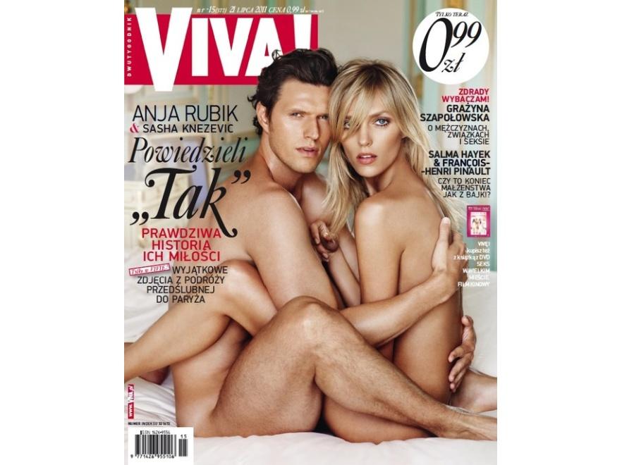 Anja Rubik i Sasha Knezevic nago na okładce VIVY!