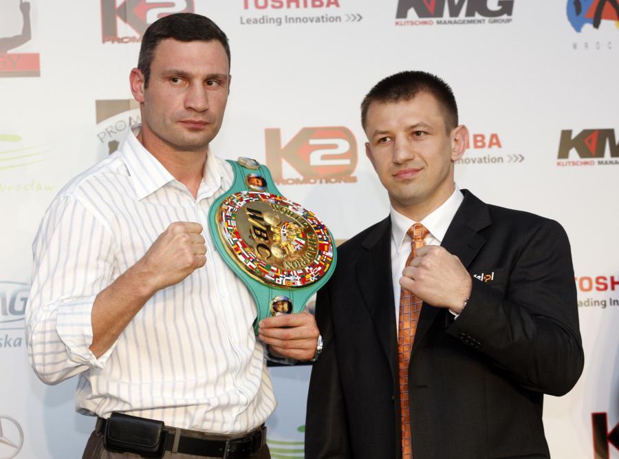 Witalij Kliczko i Tomasz Adamek