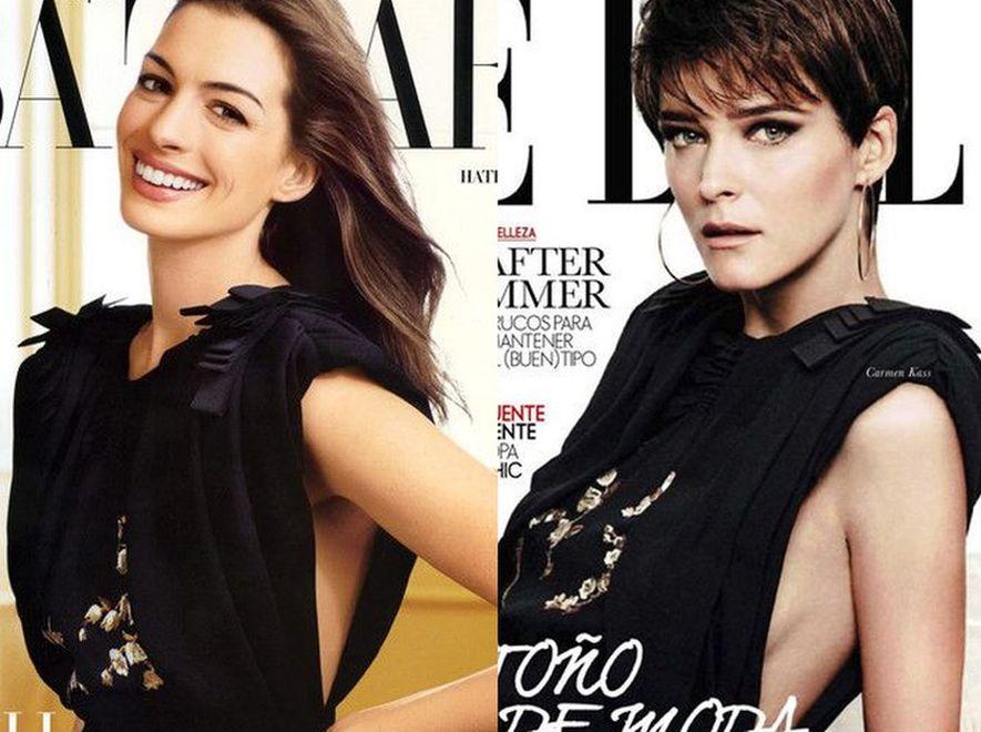 Aktorka czy modelka? Dwie gwiazdy w tej samej sukience