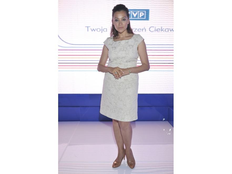 Klaudia Carlos na prezentacji jesiennej ramówki TVP.