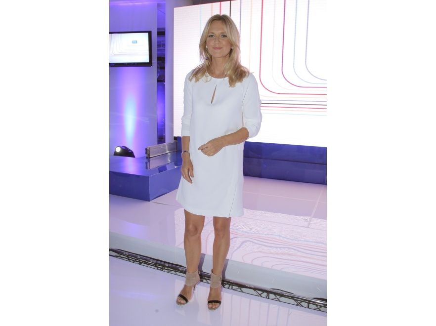 Grażyna Torbicka na prezentacji jesiennej ramówki TVP.