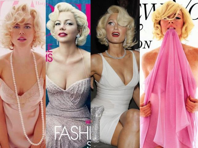 Gwiazdy jako Marilyn Monroe
