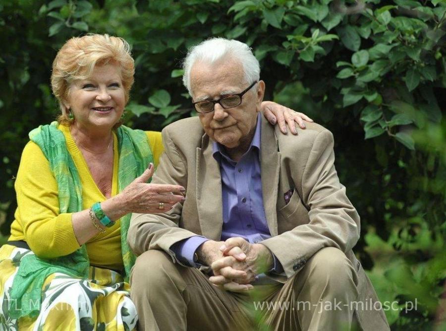Andrzej Łapicki i Antonina Girycz na planie \