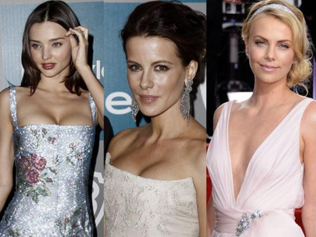 Najpiękniejsze dekolty gwiazd na Złotych Globach 2012