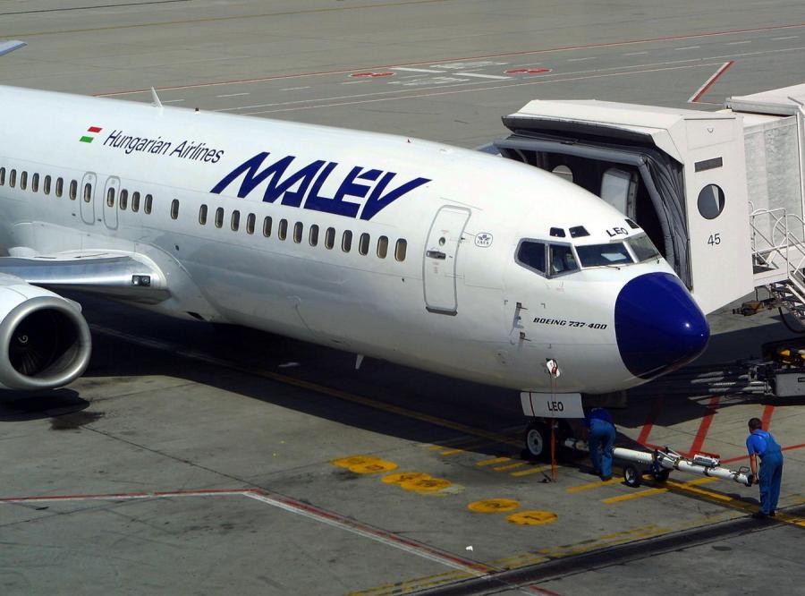 Samolot węgierskich linii lotniczych Malev