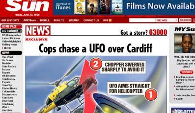 UFO prawie staranowało policyjny helikopter