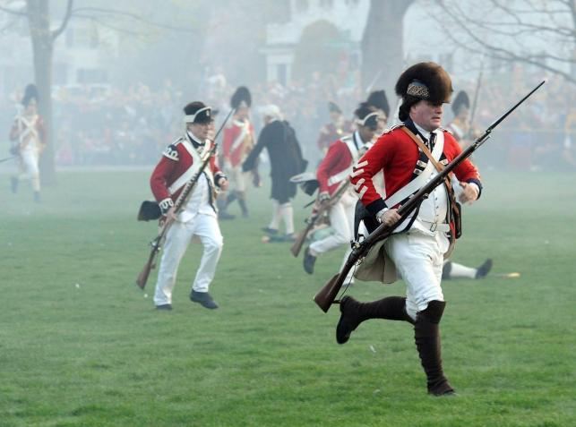 Rekonstrukcja bitwy pod Lexington z 1775 roku