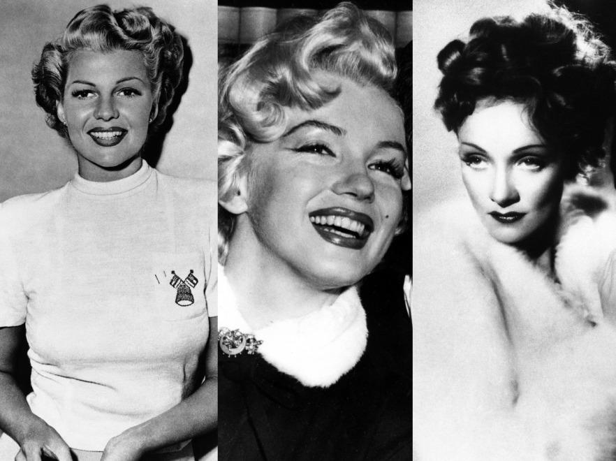 Rita Hayworth, Marilyn Monroe i Marlene Dietrich