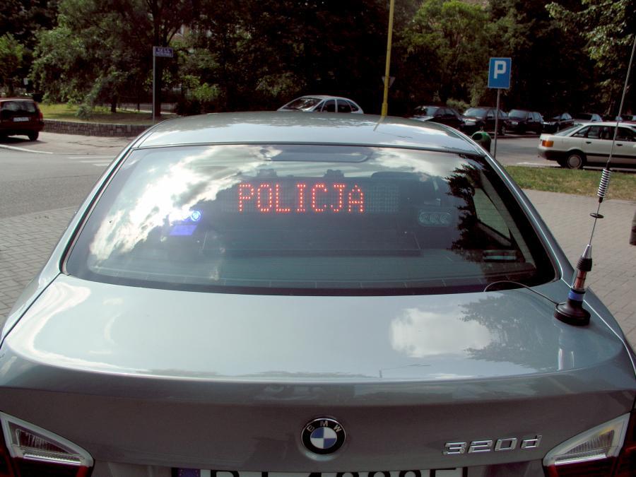 Strzeż się policyjnego bmw