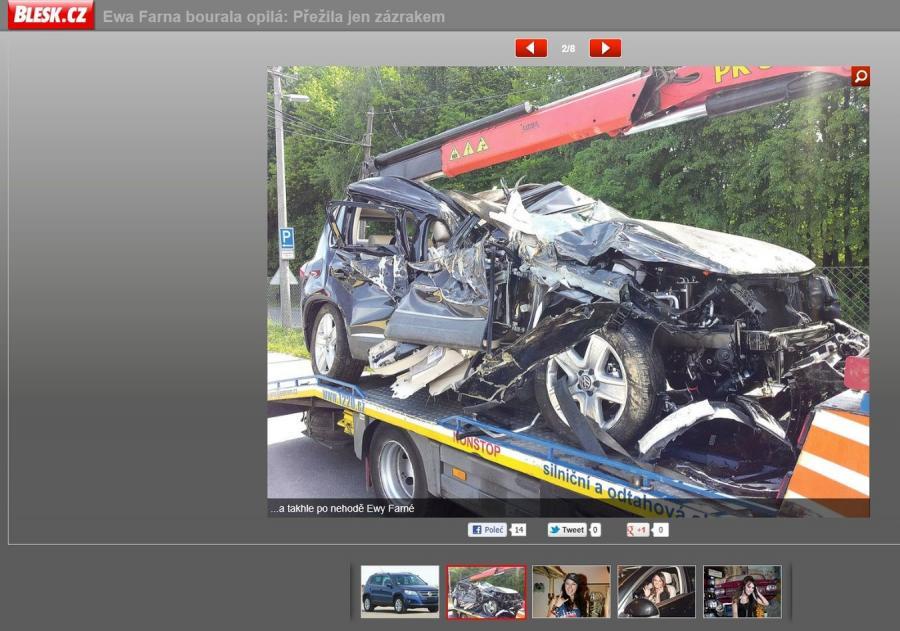 Samochód, który rozbiła Ewa Farna