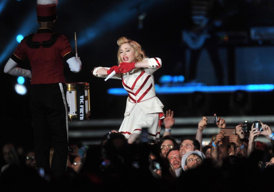 Madonna na koncercie we Florencji
