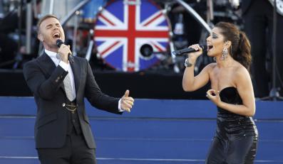 Gary Barlow i Cheryl podczas jubileuszu Elżbiety II