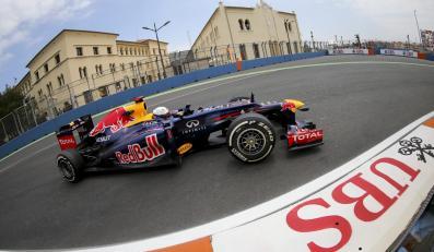 Sebastian Vettel na treningu w Walencji przed wyścigiem o Grand Prix Europy