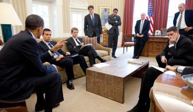 Spotkanie prezydenta Baracka Obamy ze sztabem