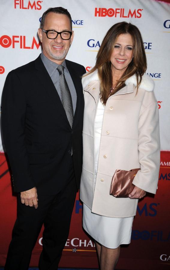 Długodystansowcy w Hollywood - Tom Hanks z żoną Ritą Wilson