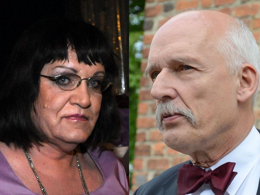 Anna Grodzka i Janusz Korwin Mikke
