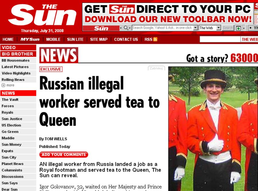 Elżbieta II zatrudnia lokaja na czarno