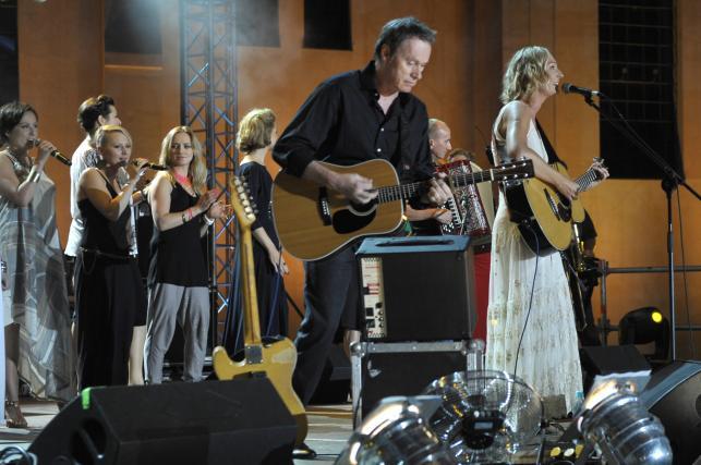 Anita Lipnicka i John Porter podczas koncertu Morowe Panny