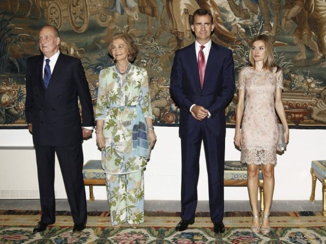Kiszpańska para krolewska oraz księżna Letizia i książę Filip
